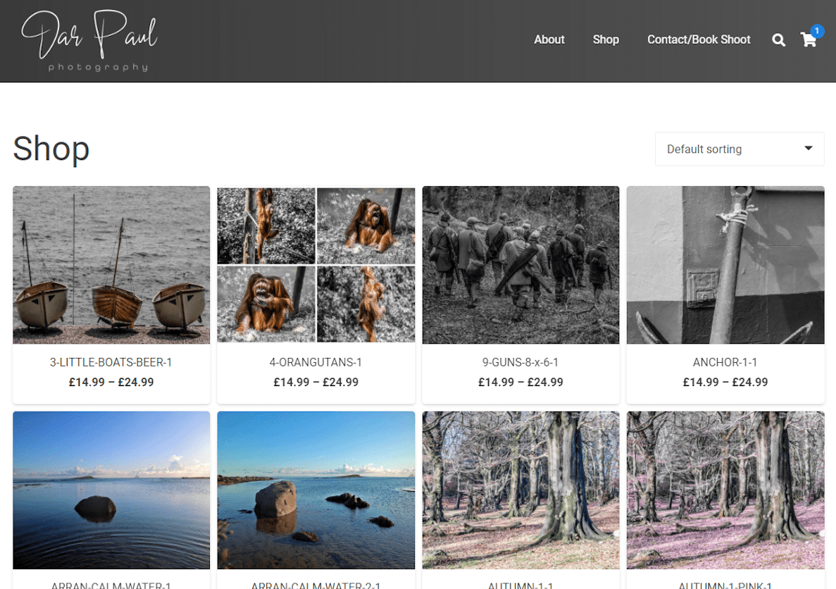 Dar Paul Photography Shop Page