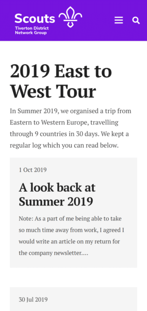 2019 East To West Tour