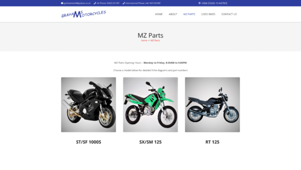 MZ Parts Catalogue