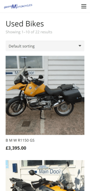 Used Bikes Product Category
