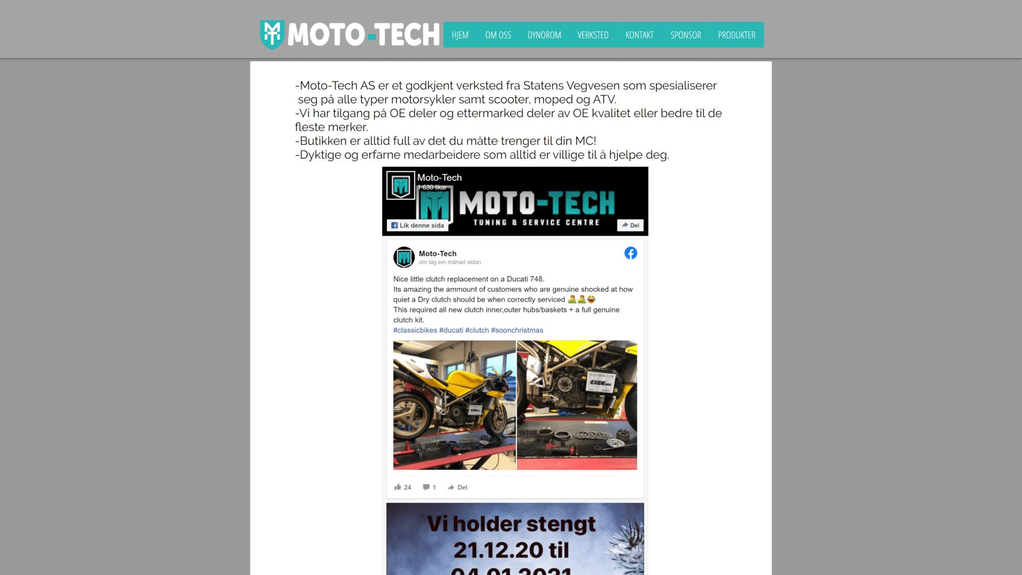 Moto Tech Home