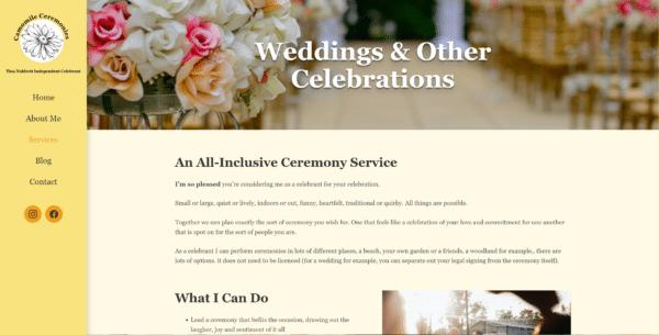 Weddings & Other Ceremonies