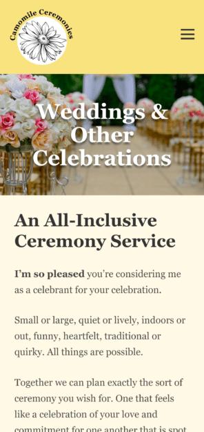 Weddings & Other Celebrations